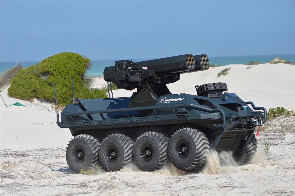 Weaponized UGV Demonstrated During LiveFire Exercise