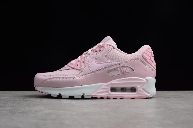 Women's Nike Air Max 90 Se Mesh GS Prism PinkWhite 880305