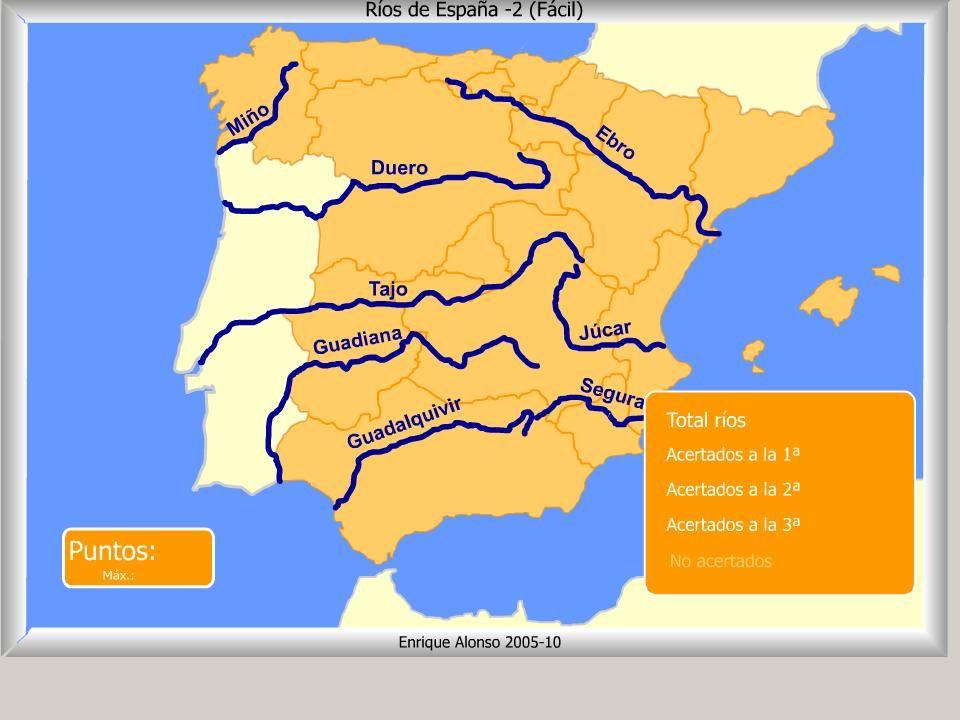Mapa Interactivo De España Ríos De España Cómo Se Llama Fácil