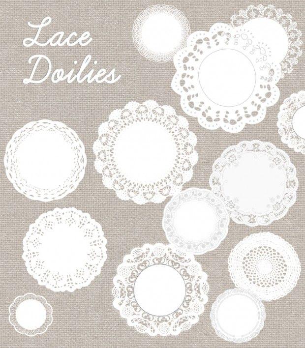 Vintage Lace and Doilies Digital Download No 226