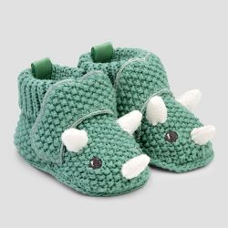 Photo of Baby Boys' Knitted Bear Slipper – Just One You made by carter's Brown Newborn, Boy's