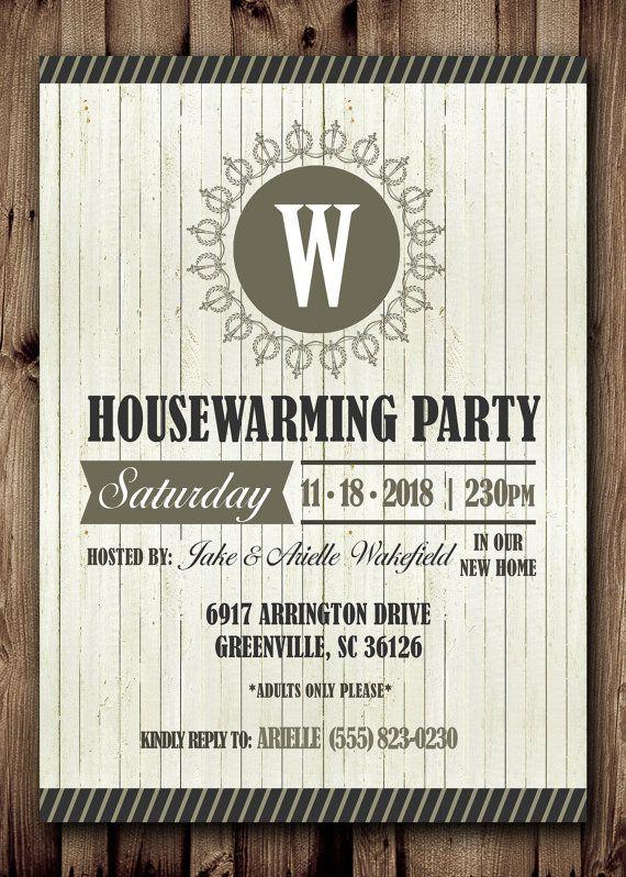 HOUSE WARMING Party Printable Invitation DIY by ScriptureWallArt - fresh invitation card wordings for housewarming