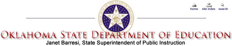 OK State Department of Education - Public School Curriculum.  Academic Student Skills by grade level.