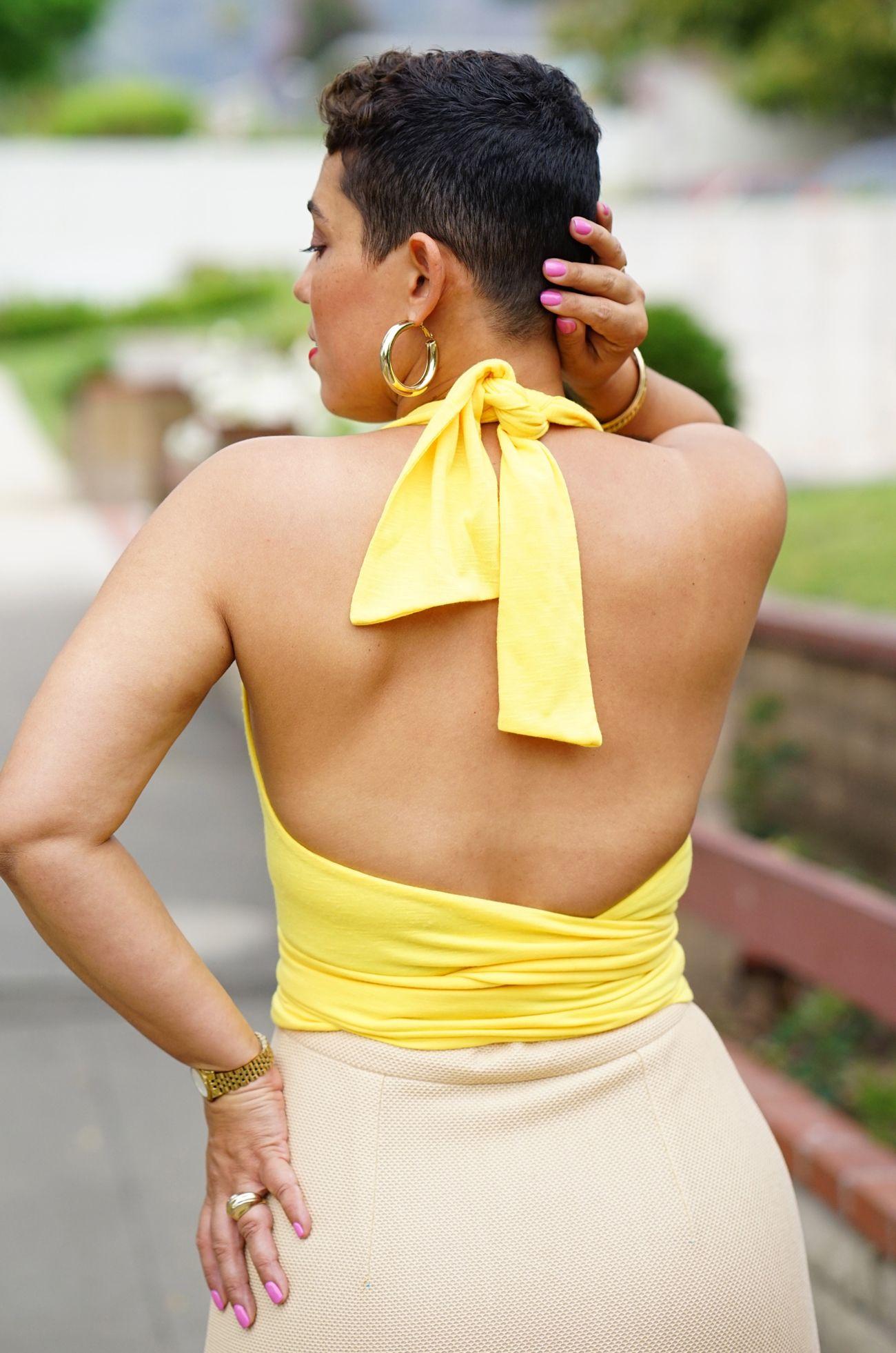 Diy tie front top wrap skirt using vogue simplicity