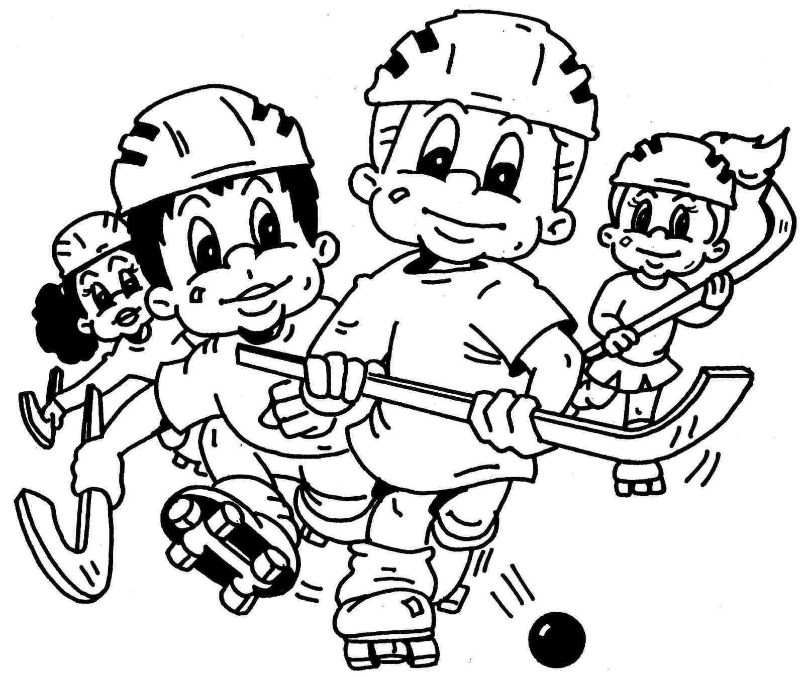 hockey kids coloring sheet printable | sport coloring page | Pinterest