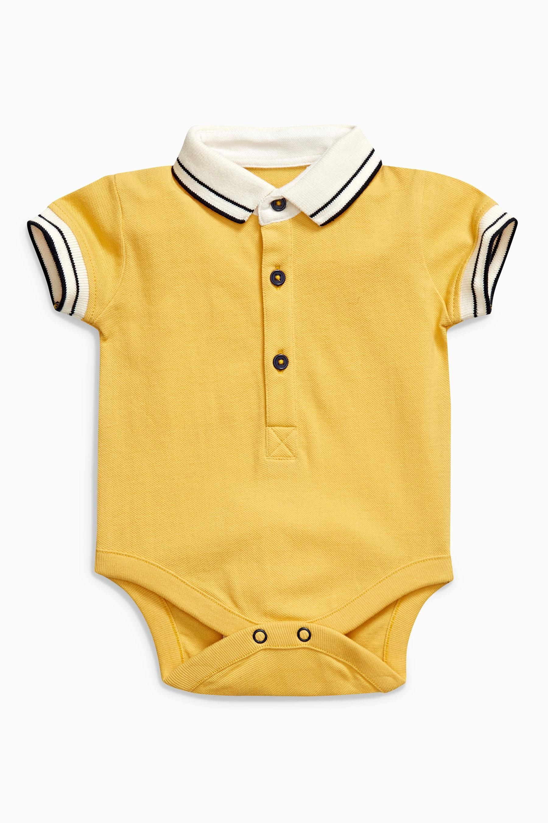 Buy Yellow Polo Bodysuit 0mths 2yrs from Next Brazil