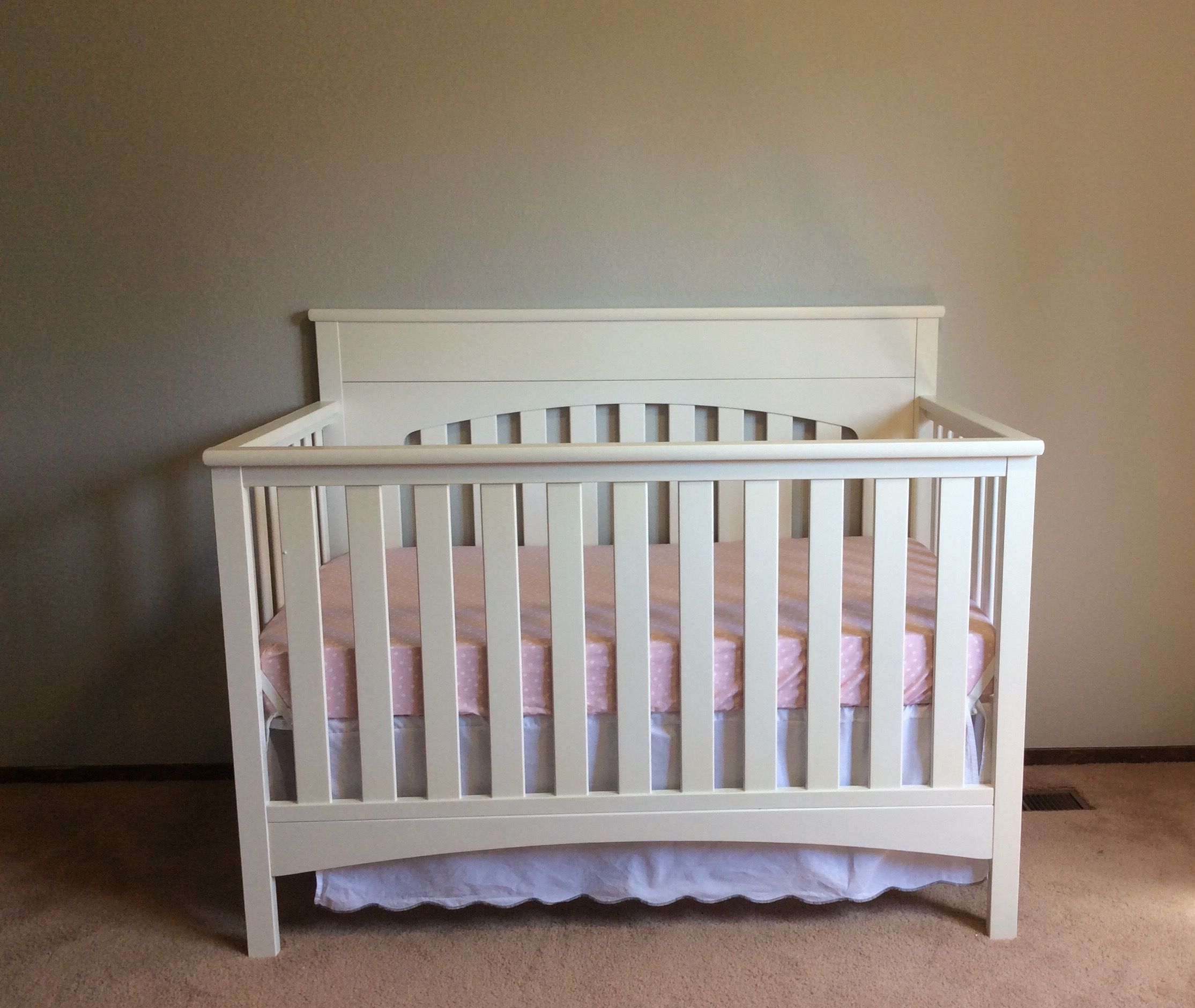 Crib is done...mostly.