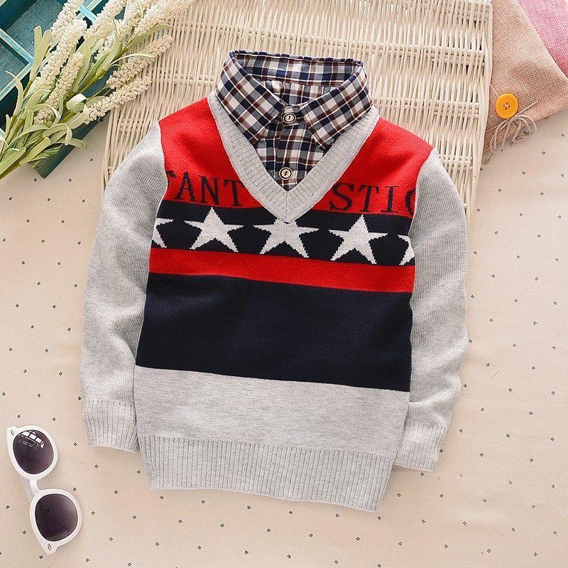 877ce8a23 children Knitting Shirt coat kid boy thin jackets