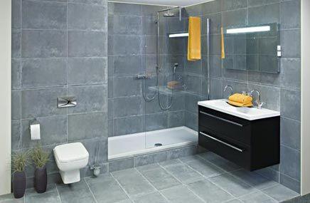 badkamer met inloopdouche voorbeelden - Google zoeken | Kleine ...