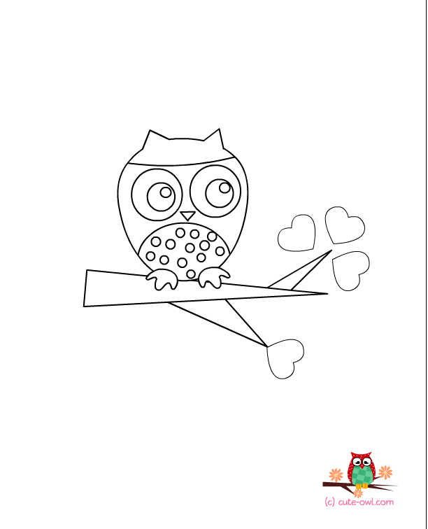 Owl Coloring Page Owl Coloring Page This Is An Adorable Coloring Page With A Cute Owl Owl Coloring Pages Coloring Pages For Kids