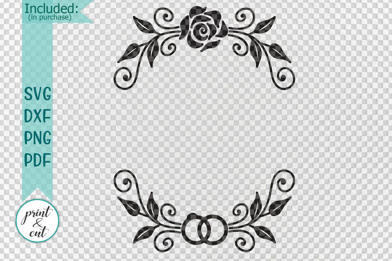 Flower border svg, flowers svg file, floral border svg