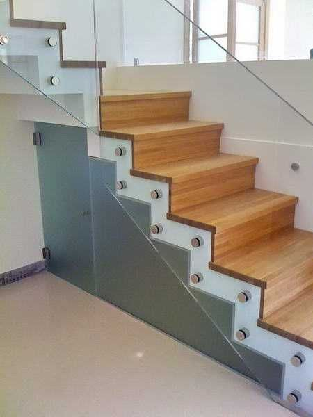21 Beautiful Modern Glass Staircase Design Wood Stairs