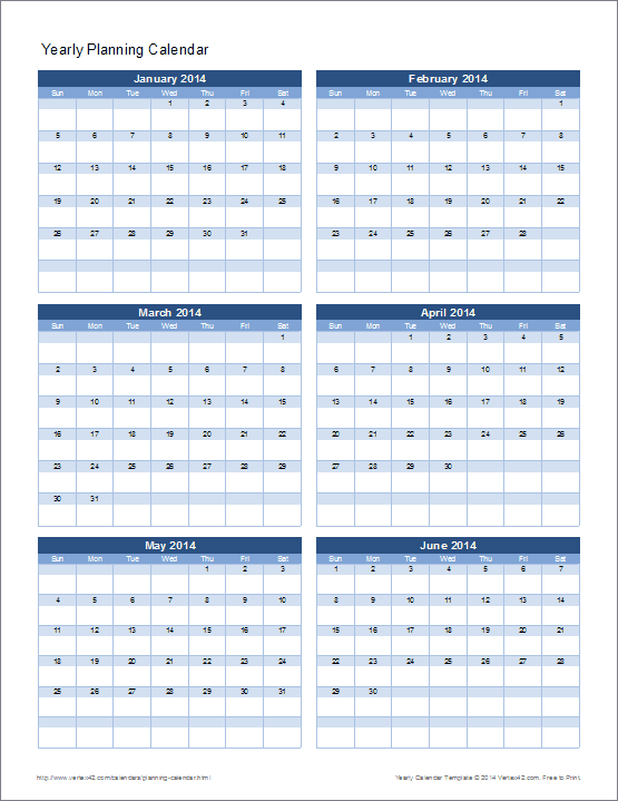 This New Yearly Planning Calendar Lets You See Multiple Months On A