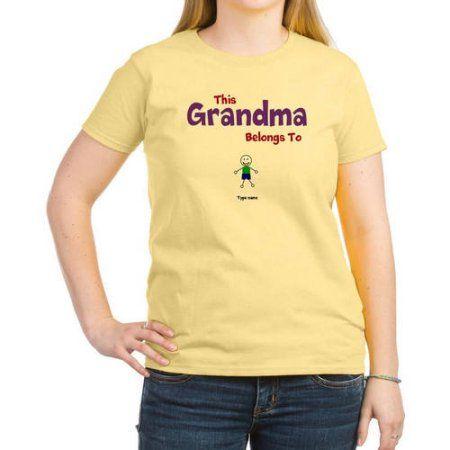 2a6a778c CafePress Personalized This Grandma Belongs To Women's Light T-Shirt, Size:  Medium,