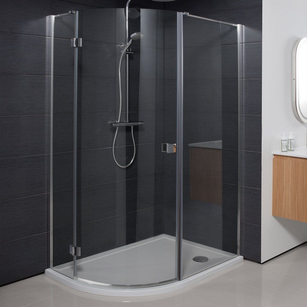 Crosswater Design Quadrant Single Hinged Door Shower Enclosure Bathroomvillage Com Showerenclosure Bathroom Quadrant Shower Luxury Bathroom Shower Cubicles
