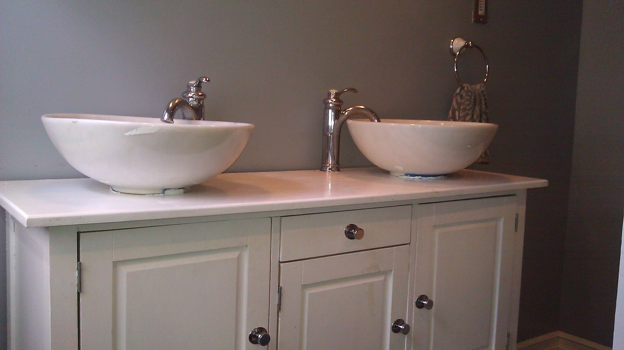 Double Bowl Bathroom Sinks