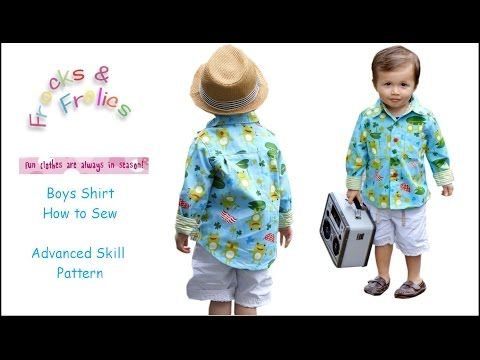 11bb4622 How to sew a shirt - Step by Step - YouTube   baby's frock   Sewing ...