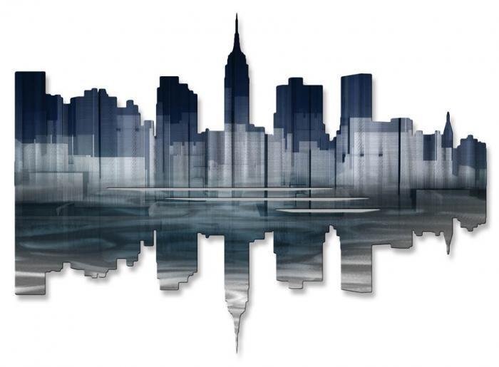 Marvelous New York Wall Decor 5 New York Skyline Metal Wall Art Steel Wall Art Metal Wall Sculpture New Art