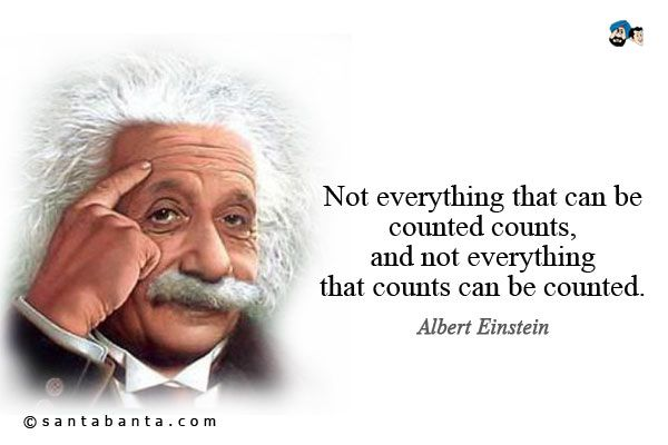 Einstein Quote Not Everything That Counts Can Be Counted And Not