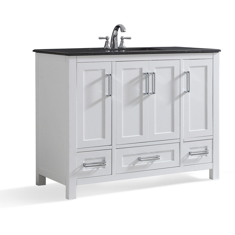 42 Inch Bath Vanity With Black Granite