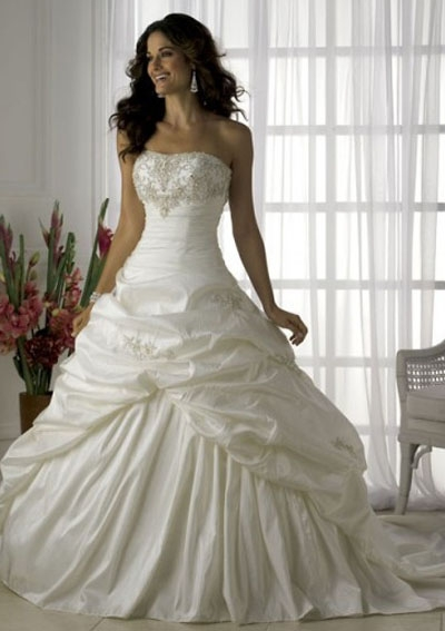Image for Strapless Wedding Dresses With Diamonds Puffy | grace ...