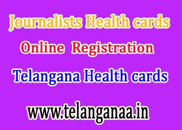 Telangana TS Journalists Health Card Online Application Registration