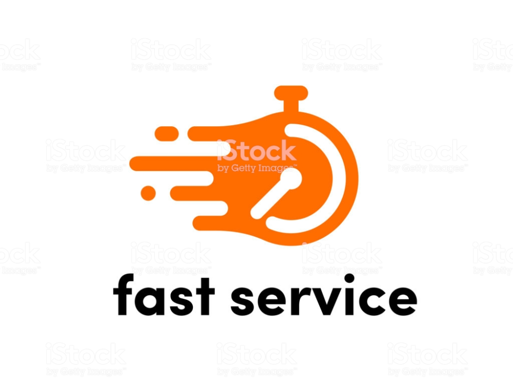 Time Clock Logo For Fast Delivery Vector Stopwatch Icon