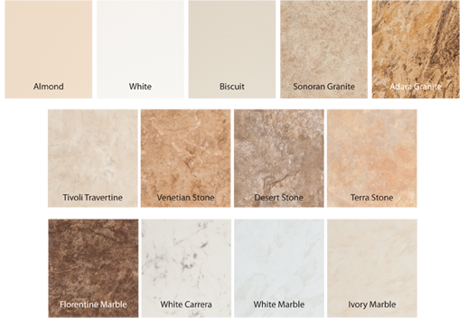 ReBath of Albany offers so many colors for your new shower or tub ...