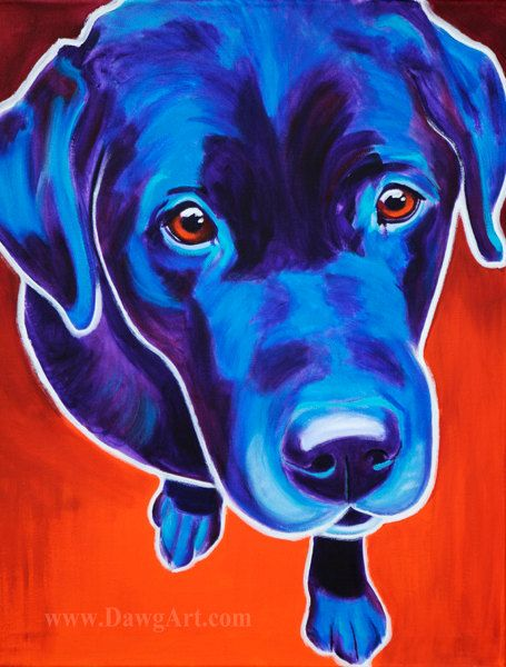a7b5af792c2 Print of Colorful Labrador Dog Painting by Alicia VanNoy Call. Original was  acrylic on canvas. This bright