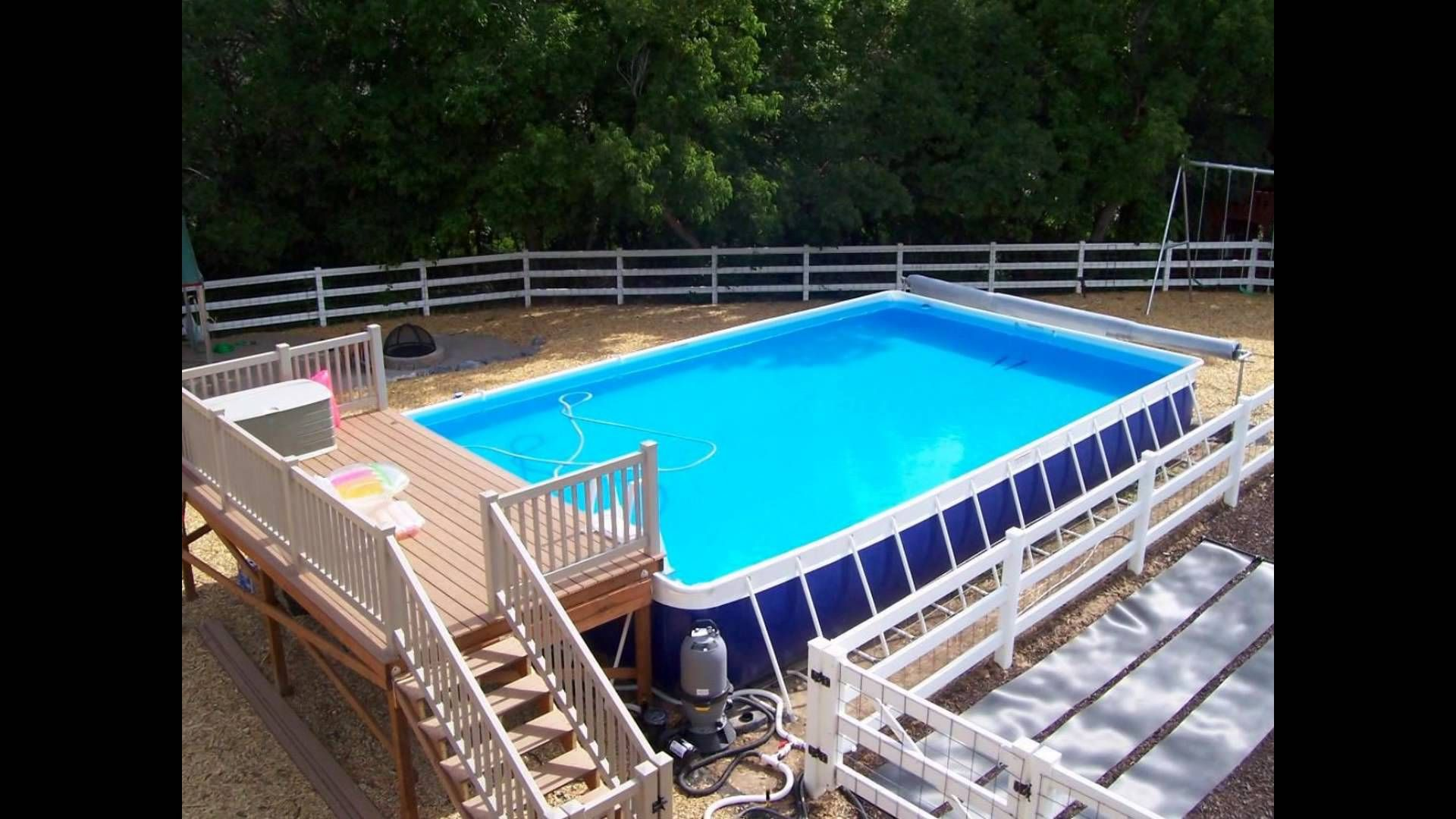 Pool Deck Designs Above Ground Plans Swimming Pools Best
