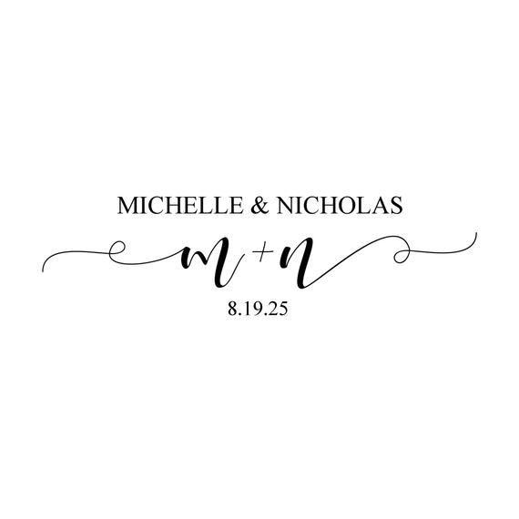 Modern Casual Script Digital Wedding Monogram 102 Wedding Logo Custom Wedding Monogram Gobo Lig In 2020 Custom Wedding Monogram Wedding Logo Monogram Wedding Logos