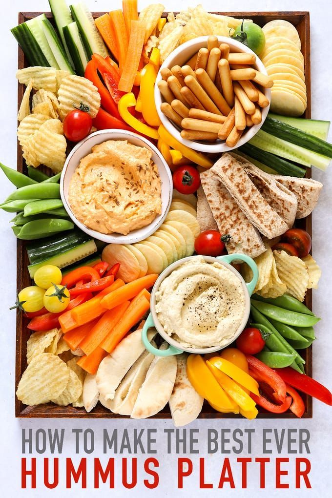HUMMUS PLATTER - This Hummus Platter is the perfect snack plate. Great for kids playdates, after sch