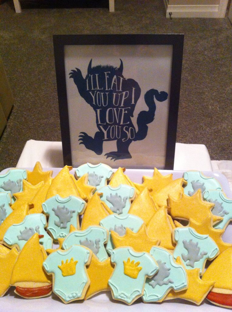 Perfect Sugar Cookies For Where The Wild Things Are Baby Shower