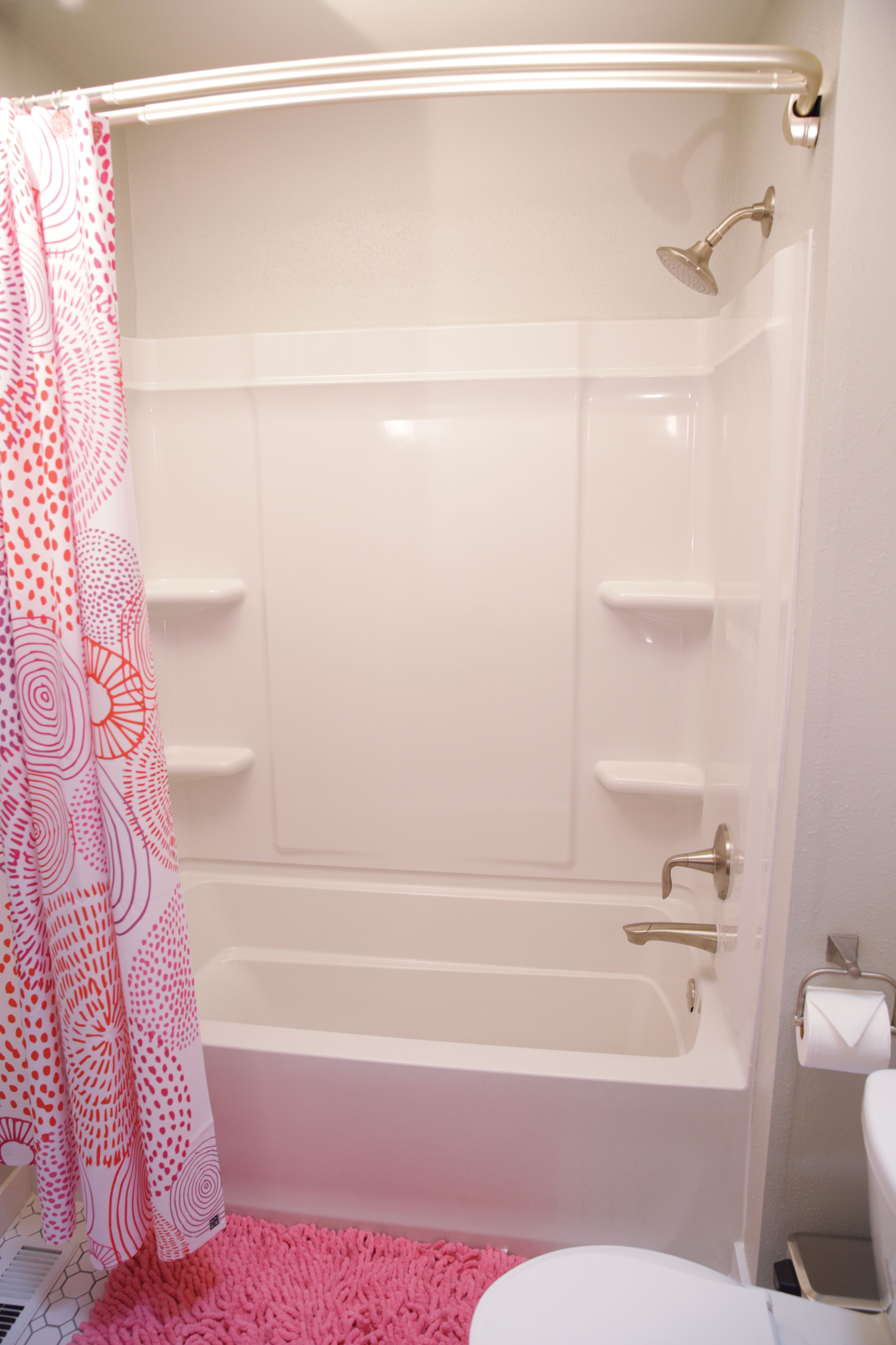 AFTER: The Sterling Ensemble Medley Bath/shower Was A Great Choice For A  Kidsu0027 Bath Because Its Vikrell Material Makes It Durable, Easy To Clean And  ...