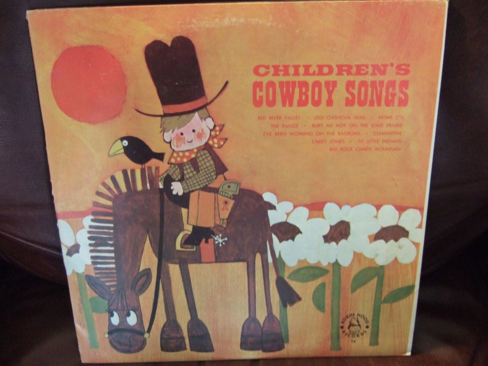 08438e40b0b rare Record Cowboy Songs For Children on vinyl LP Album