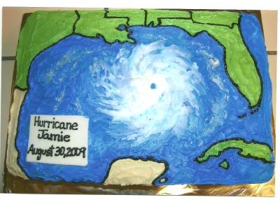 Hurricane By jlcalvert on CakeCentral.com #hurricanefoodideas