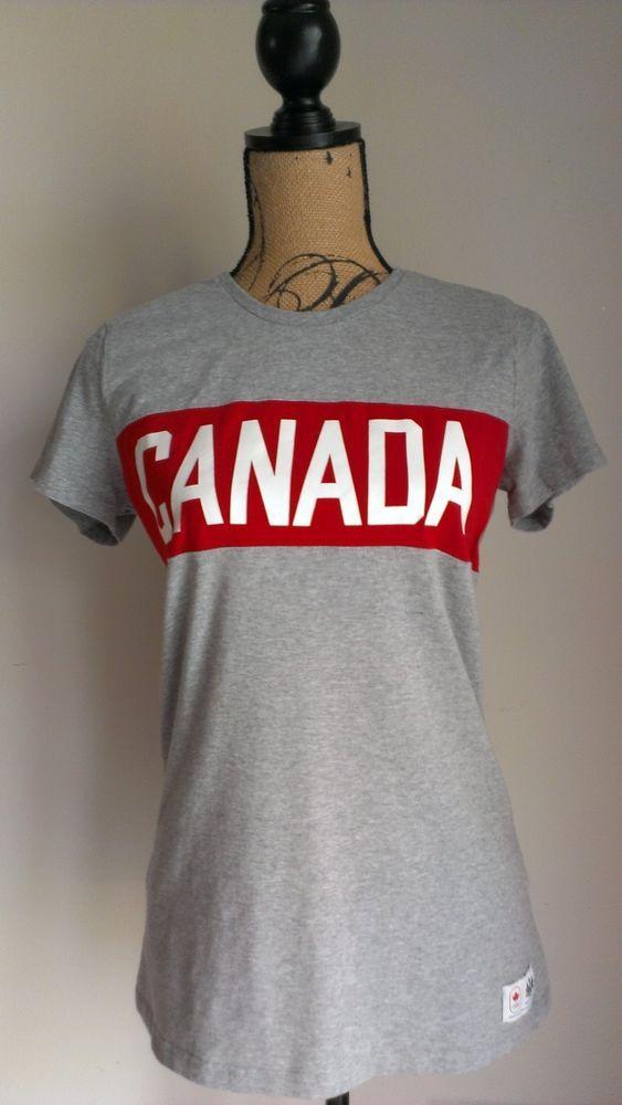 5c20b3084 Canada Olympic Womens T Shirt Hudson's Bay Company Games Team Sz L Heather  Gray #HudsonsBayCompany #Canada