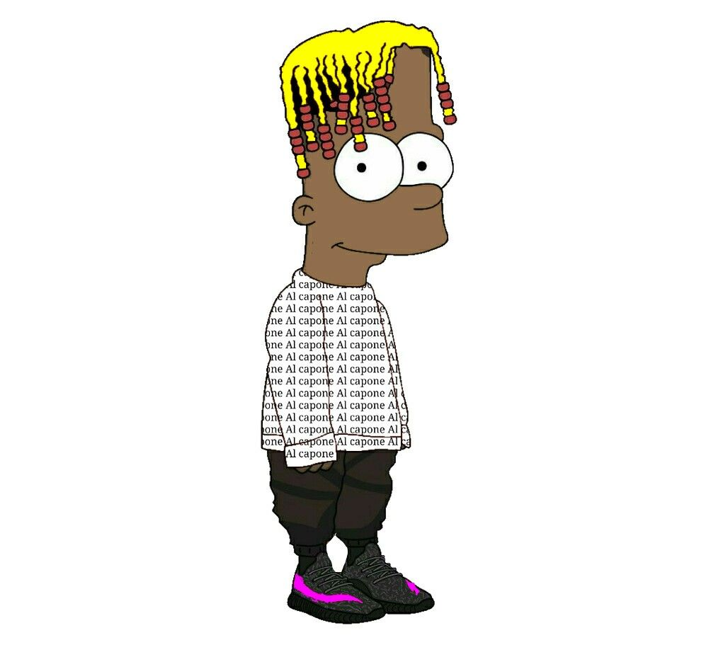 Bart Simpson Avec La Marque Al Capone Simpsons Art The Simpsons Rapper Art