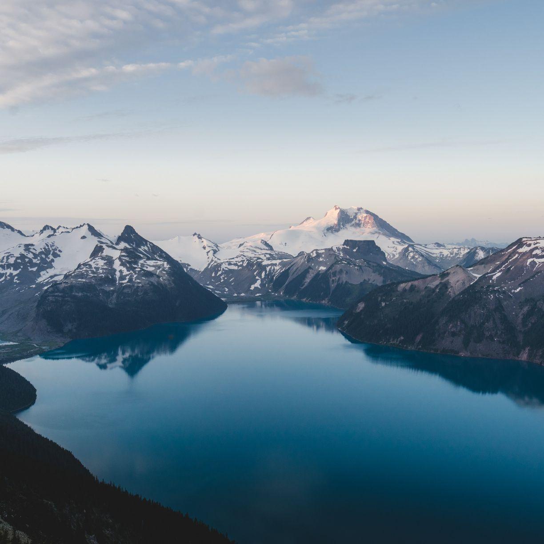 1224x1224 Lake, nature, blue lake, mountains wallpaper