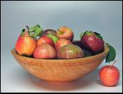 Wooden Bowls...RED OAK BOWL
