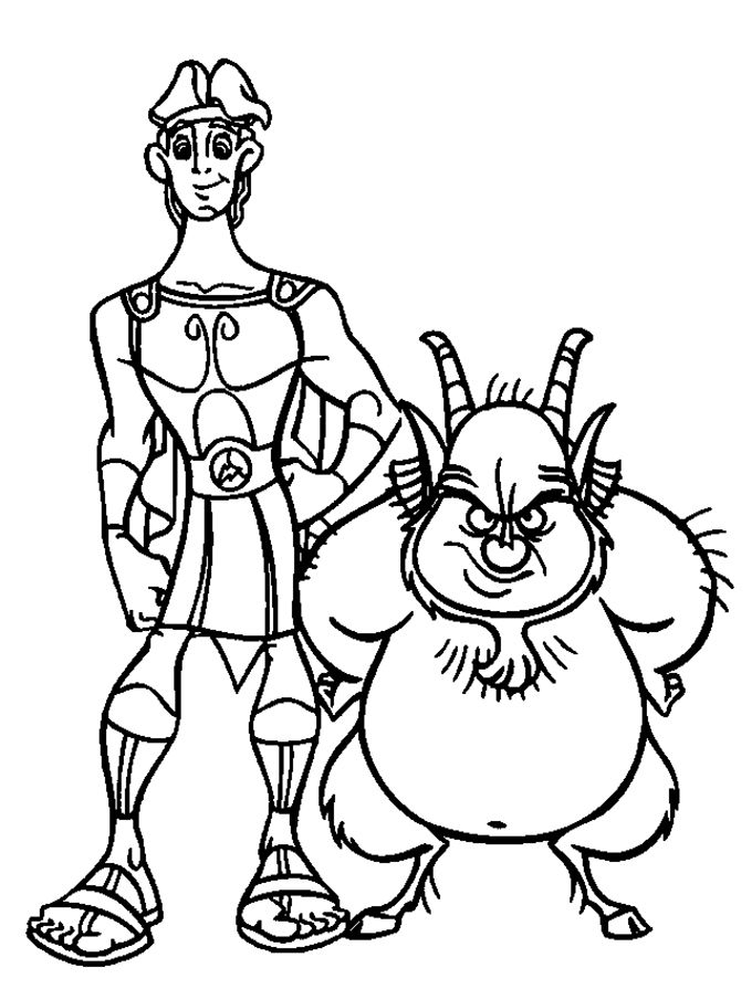 Hercules With Friends Fat Hercules Coloring Pages Pinterest