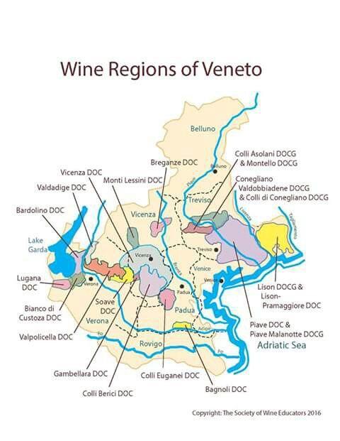 Veneto wine regions MAPAS VINO WINE MAPS Pinterest Mad og