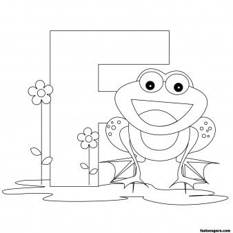 Printable Animal Alphabet Worksheets Letter F For Frog   Printable Coloring  Pages For Kids