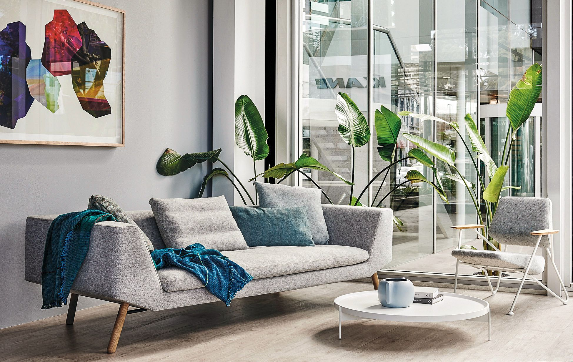Combine sofa is a seating system of reduced form