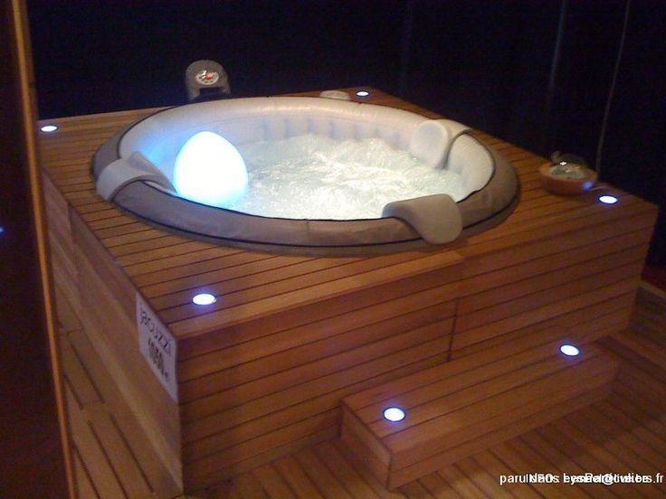 Resultado De Imagen De Habillage De Jacuzzi Gonflable Hot Tub Garden Intex Hot Tub Hot Tub Outdoor