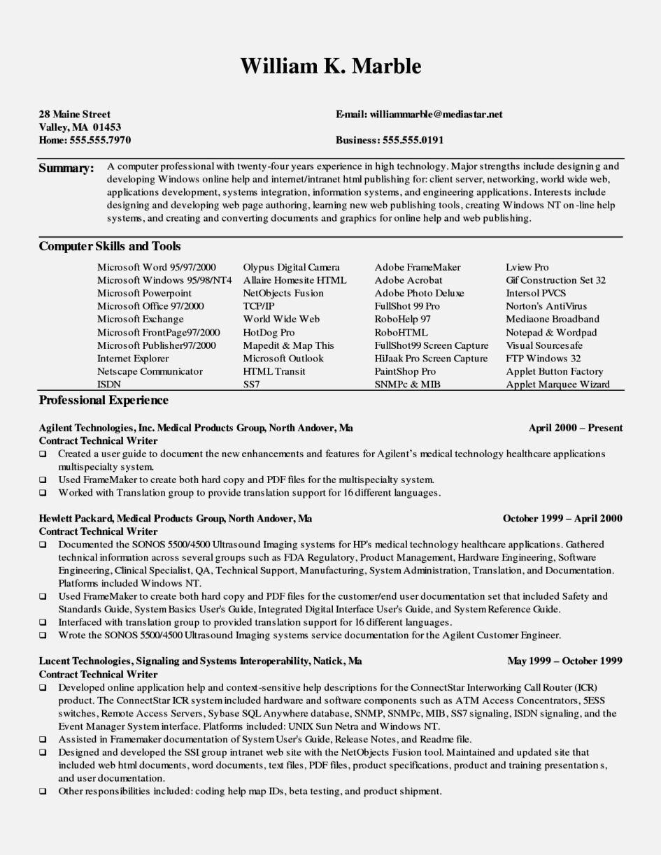 Wordpad Resume Template Endearing How To Write A Technical Resume Resume Template  Resume Examples
