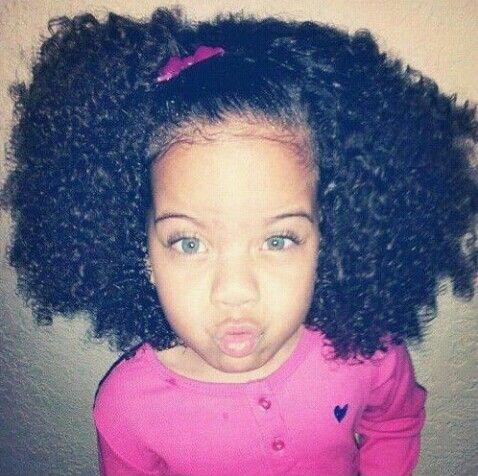 Mixed Girl Blue Eyes Natural Hairstyles For Kids Natural Hair