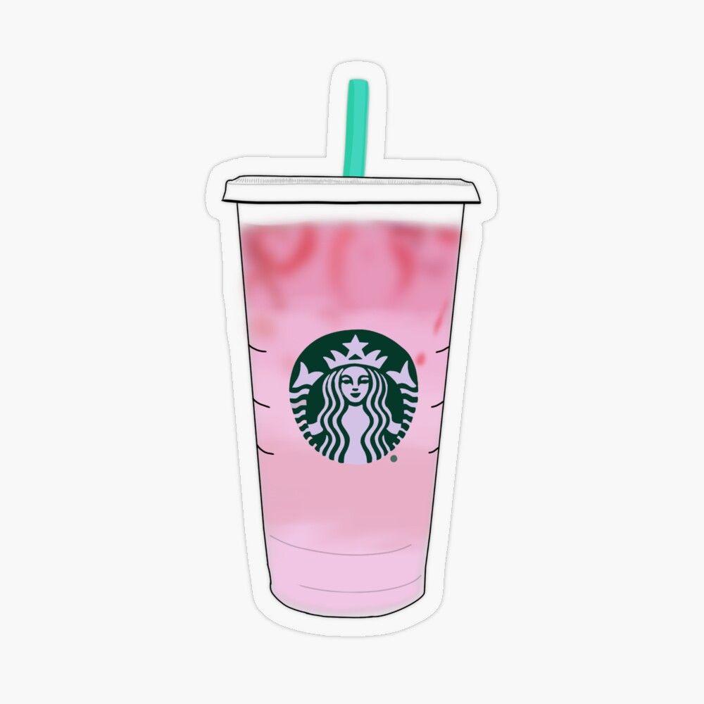 Starbucks Pink Drink Vsco Minimalist Hydro Sticker Transparent Sticker By Alyssalccreates In 2021 Pink Starbucks Pink Drinks Starbucks Wallpaper