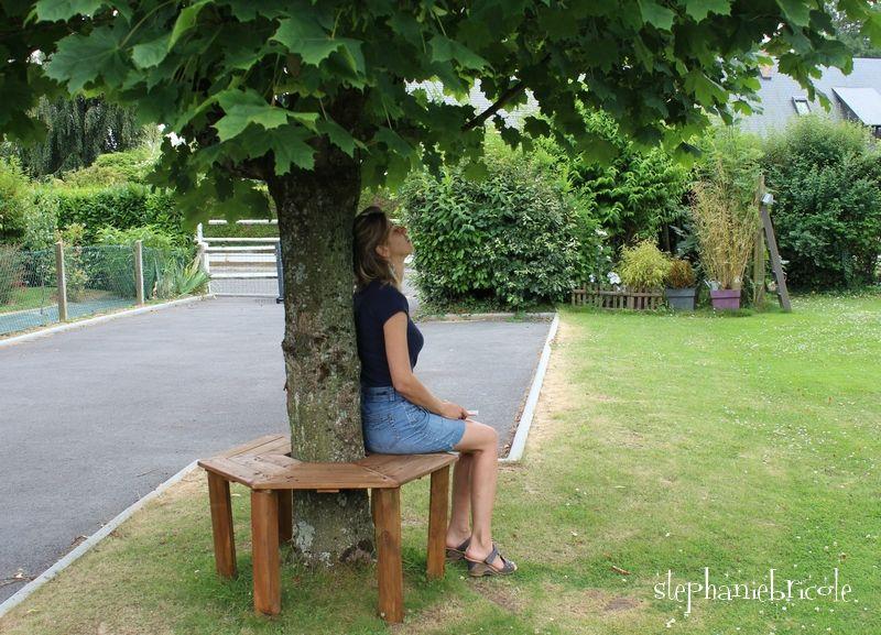 DIY : Réaliser soi même un banc tout autour d'un arbre (avec