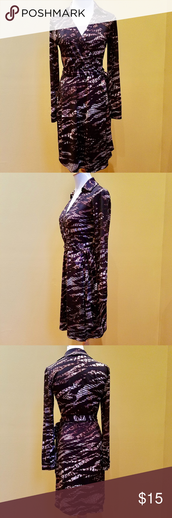 16++ Calvin klein animal print faux wrap dress ideas in 2021